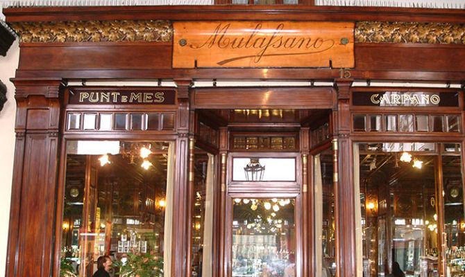 Исторические места в Турине Caffè Mulassano